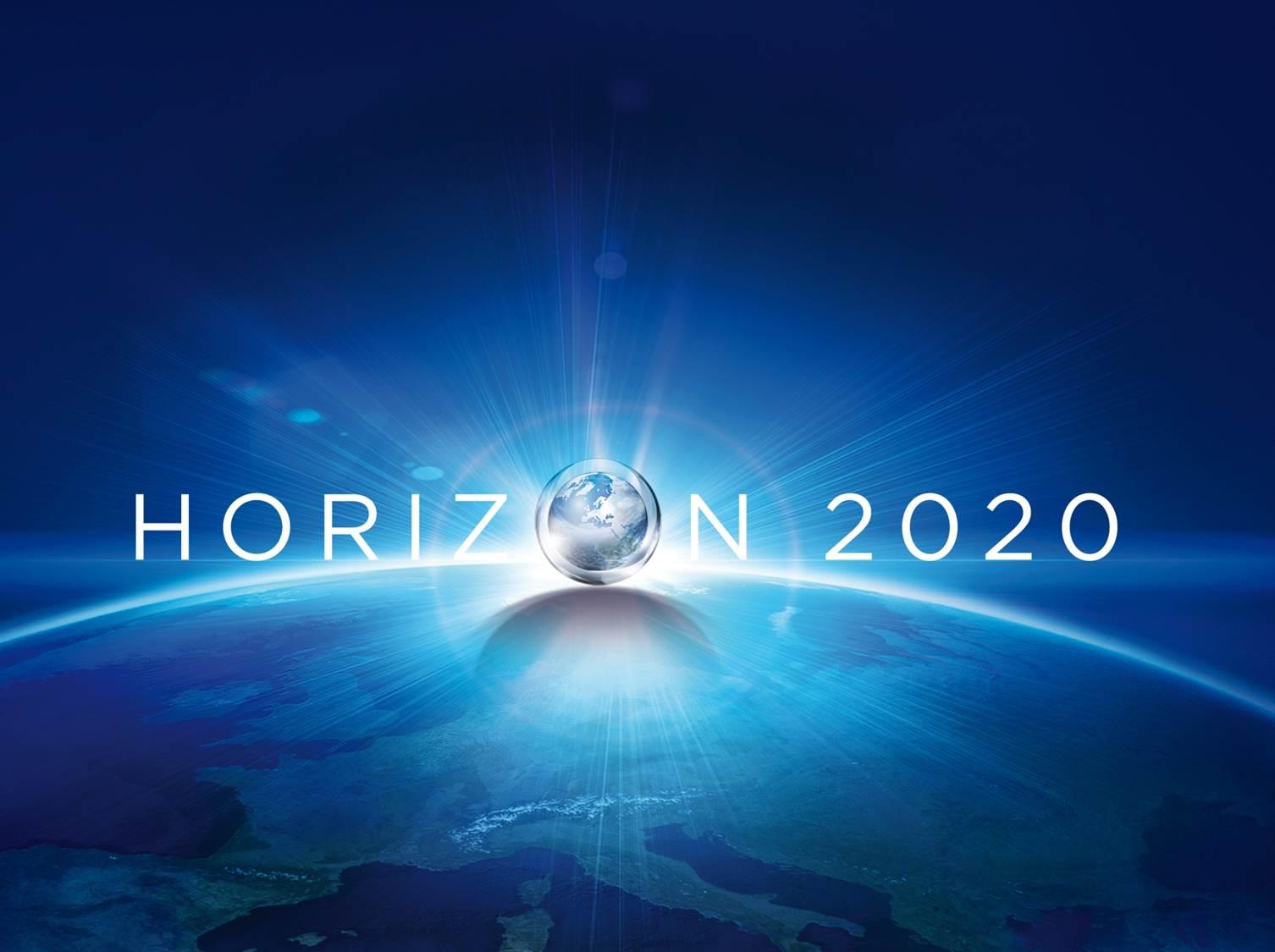 Logo Horizon2020 fondo azul