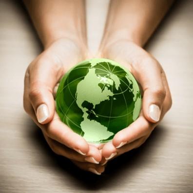 manos, bola del mundo